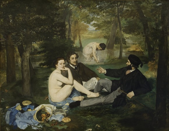 Edouard Manet   Luncheon on the Grass 1863   Google Art Project 580x450 De intrigerende vrouwen van Edouard Manet